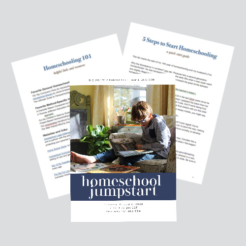 Homeschool Jumpstart Webinar and Q&A