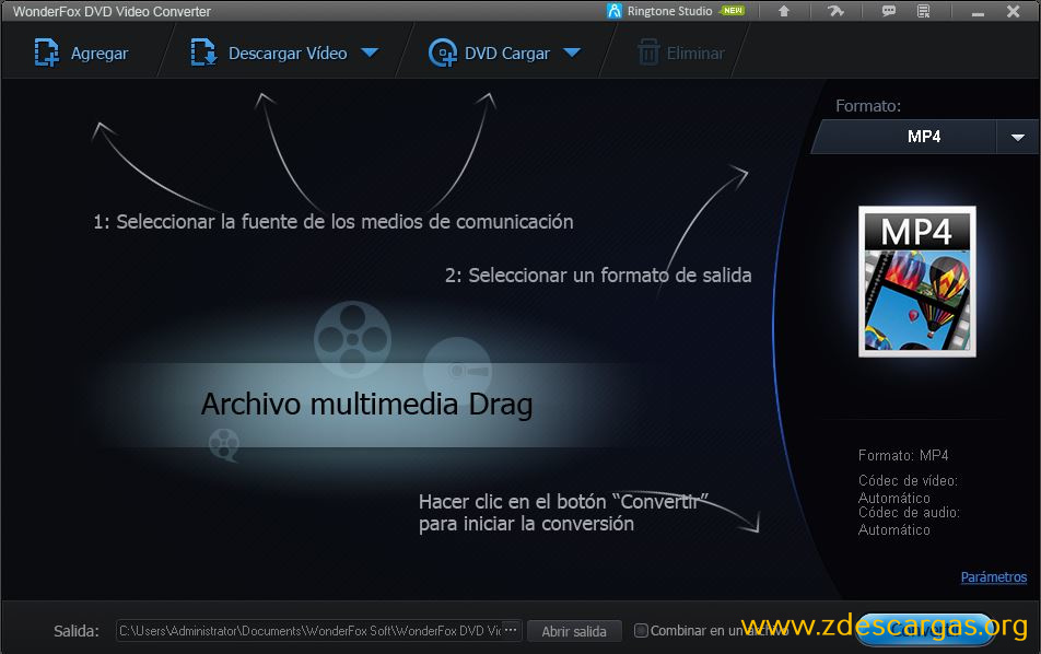 WonderFox DVD Video Converter Full Español