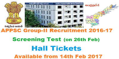 APPSC Group-II Screening Test Hall Tickets 2017