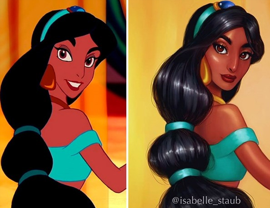 Personagens Desenhos Isabelle Staub - Jasmine de Alladin