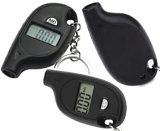 Electronic Car Tyre Pressure Gauge - Digital Vehicle Tire-Air Tester for Automobiles