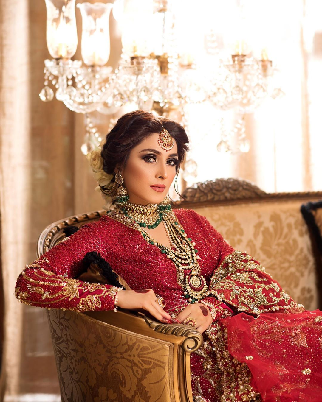 Ayeza Khan New Bride Shoot for Hifsa Salon