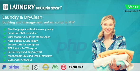 Laundry booking and management script v1.0