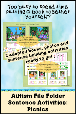 Try Autism File Folder Activities: Picnic!
