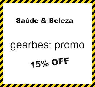 gearbest promo 15% OFF Saúde & Beleza