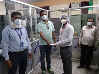 ज्ञान प्रकाश सिंह की संस्था ने स्वास्थ्यकर्मियों को दिया एन 95 मास्क  | #NayaSabera