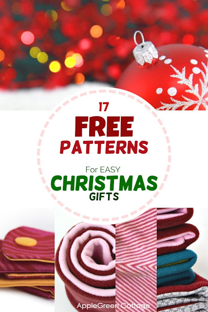 17 free patterns for diy Christmas gifts everybody will love! Easy and quick to make Christmas sewing projects from free beginner patterns. Easy, quick and free - grab the free sewing patterns now!