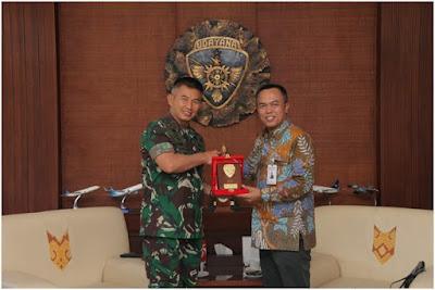 Perkenalkan Pejabat Baru, PT. BNI (Persero) Kantor Cabang Denpasar Silaturahmi ke Kodam IX/Udayana