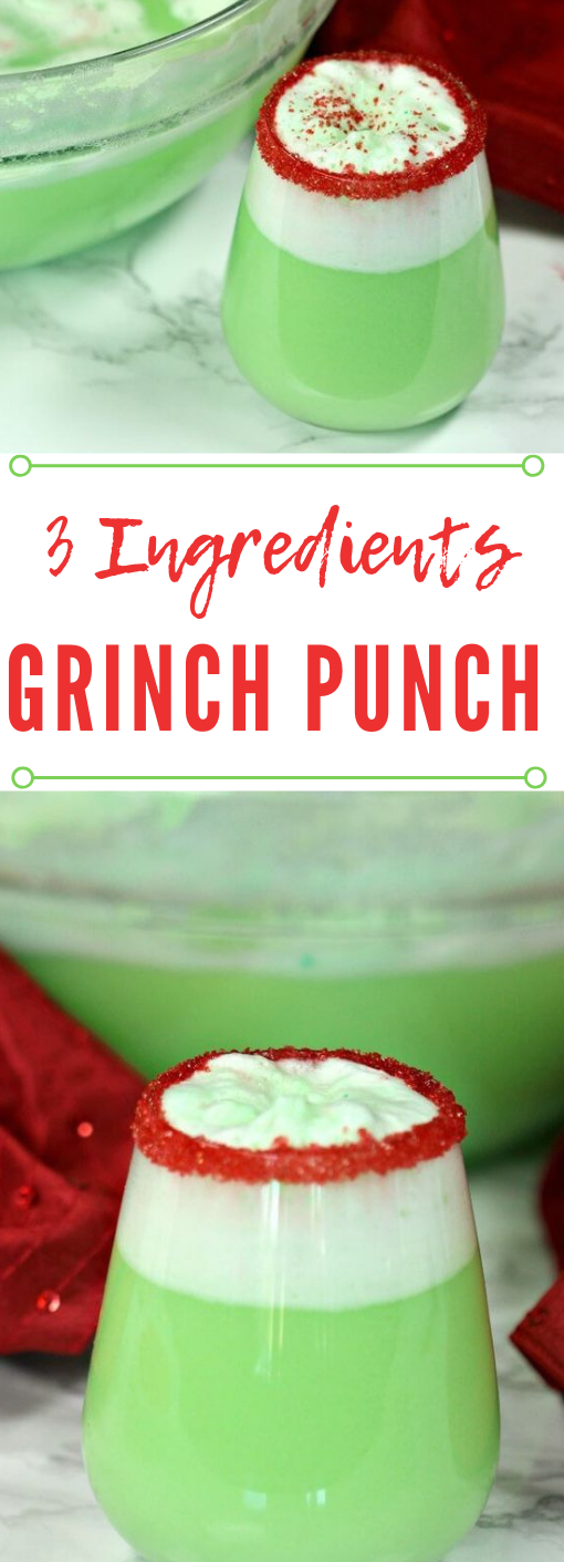 EASY GRINCH PUNCH RECIPE #healthyrecipes #drink #punch #sangria #cocktail
