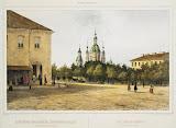 Church of St Andrew on Bolshoi Prospekt of Vasilyevsky Island by Ferdinand Perrot - Architecture, Landscape Art Prints from Hermitage Museum
