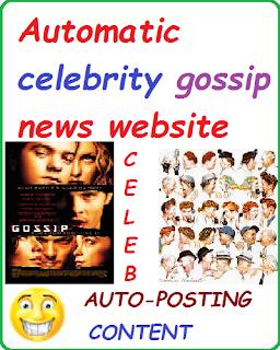 Ready monetized celeb news website earning money online