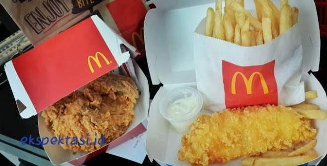 Daftar Harga Menu McDonald's Jember