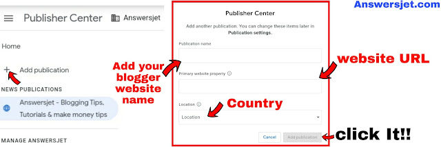 How to submit Blogger website in Google News Publisher