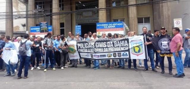 Policiais civis e penais param por 48h a partir de hoje