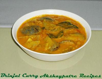 badnekayi saru in a serving bowl
