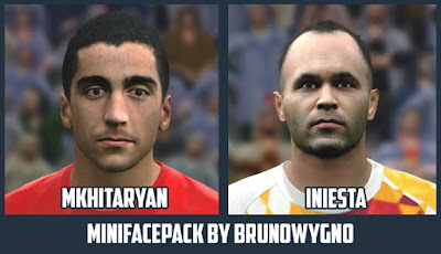 PES 2016 Minifacepack - Mkhitaryan and Iniesta by Brunowygno