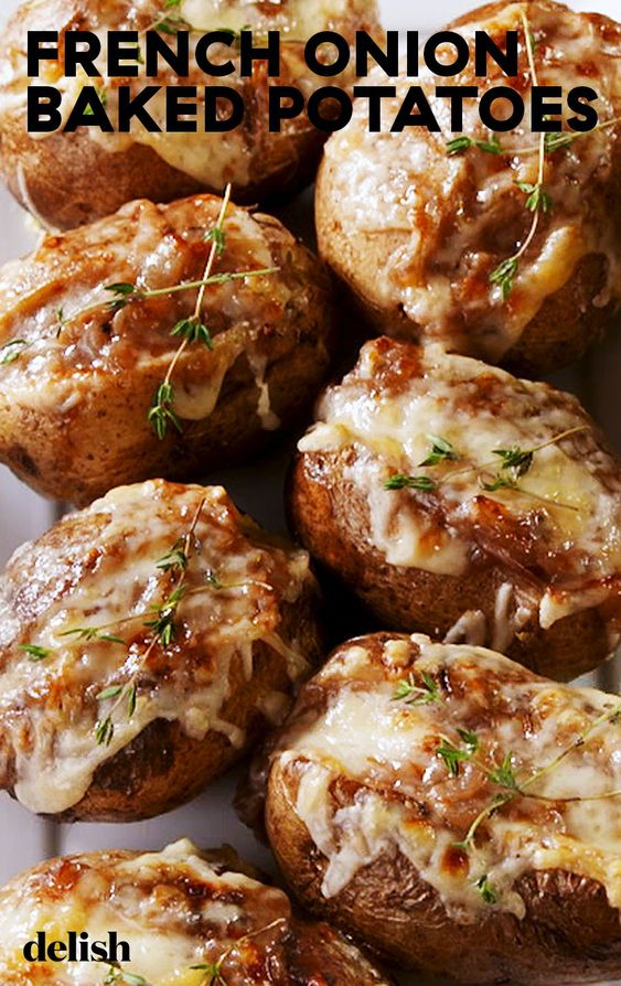 French Onion Baked Potatoes