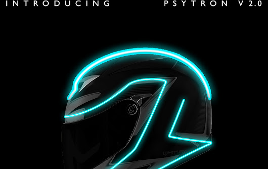 Being Spiderweb...: LightFury - Tron Style Futuristic Helmets
