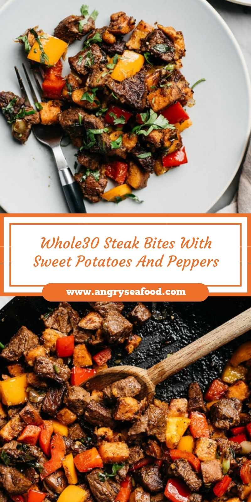 Whole30 Steak Bites wWth Sweet Potatoes And Peppers
