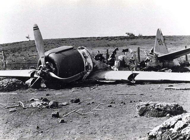 Japanese Zero plane crashed