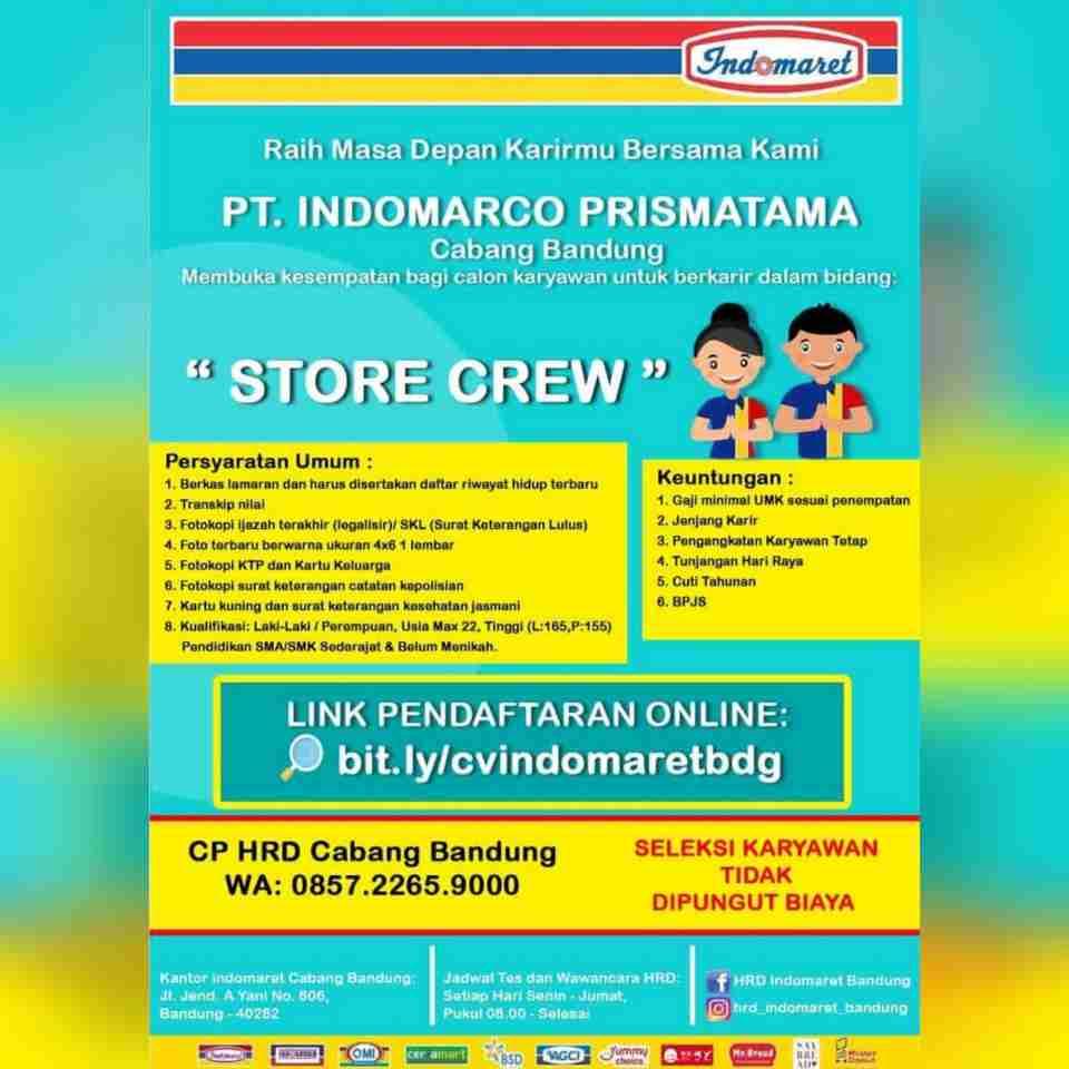 Lowongan Kerja Indomaret Bandung 2020 - Lokerhariini.COM