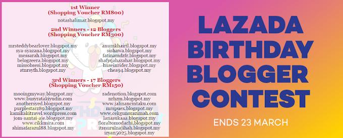 Rezeki Menang RM300 dari Contest Birthday Lazada
