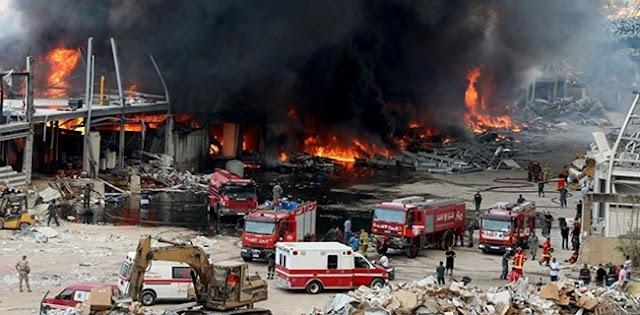 Ludes Tak tersisa, Bahan Makanan Untuk Bantuan Korban Ledakan Agustus Lalu Ikut Dilalap Api