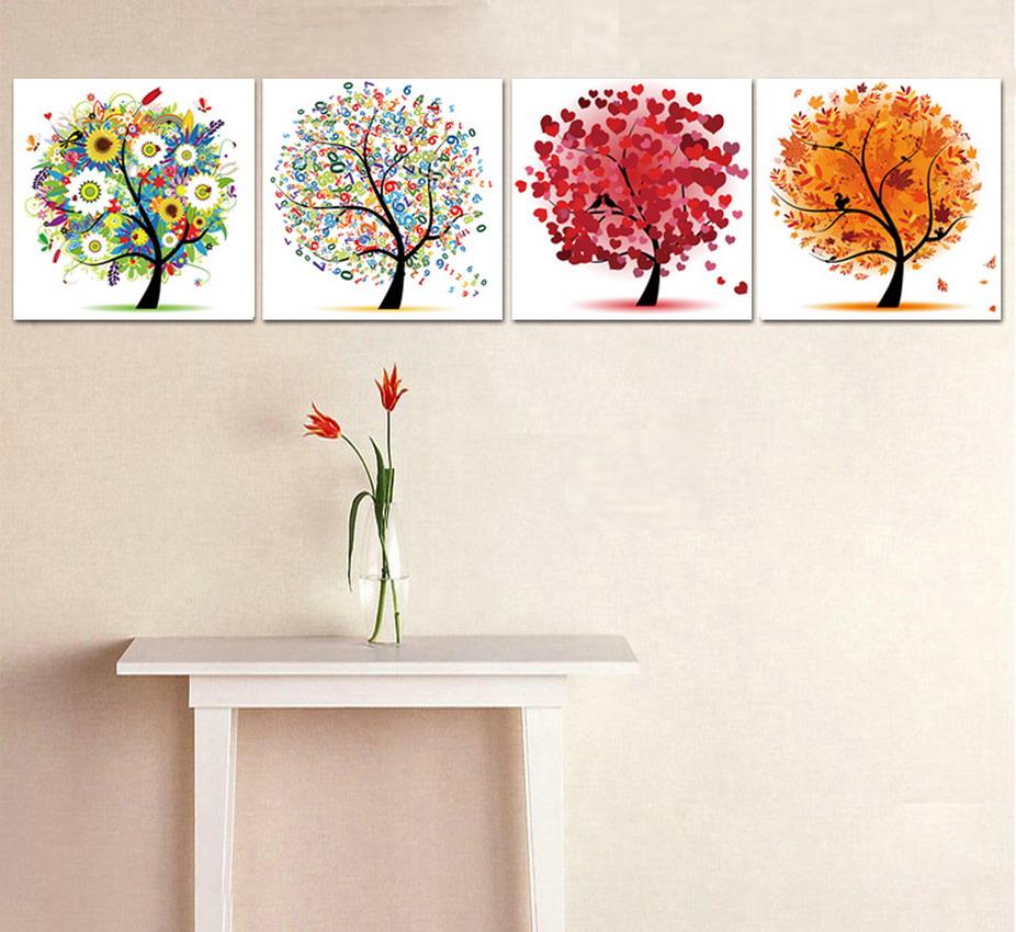 Im genes arte pinturas pinturas de flores al leo modernos - Cuadros pequenos para decorar ...