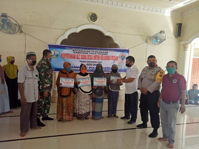 Pemerintah Gampong Pulo Pisang Kembali Salurkan BLT Kepada Masyarakat
