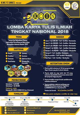 Lomba Karya Tulis Ilmiah KOIN 2018 Unnes