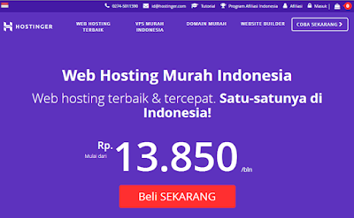 Hostinger, layanan web hosting Indonesia