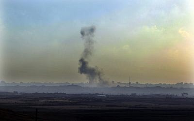 Milícias palestinas em Gaza lançam três projéteis contra Israel