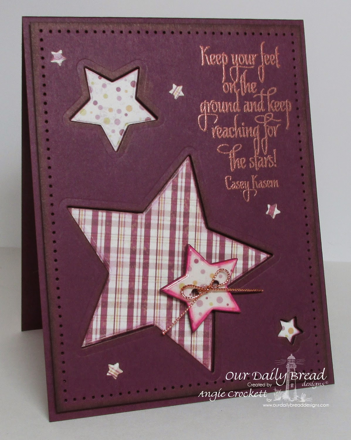 ODBD Reach for the Stars, ODBD Custom Sparkling Stars Dies, Rustic Beauty Designer Paper Collection, Card Designer Angie Crockett