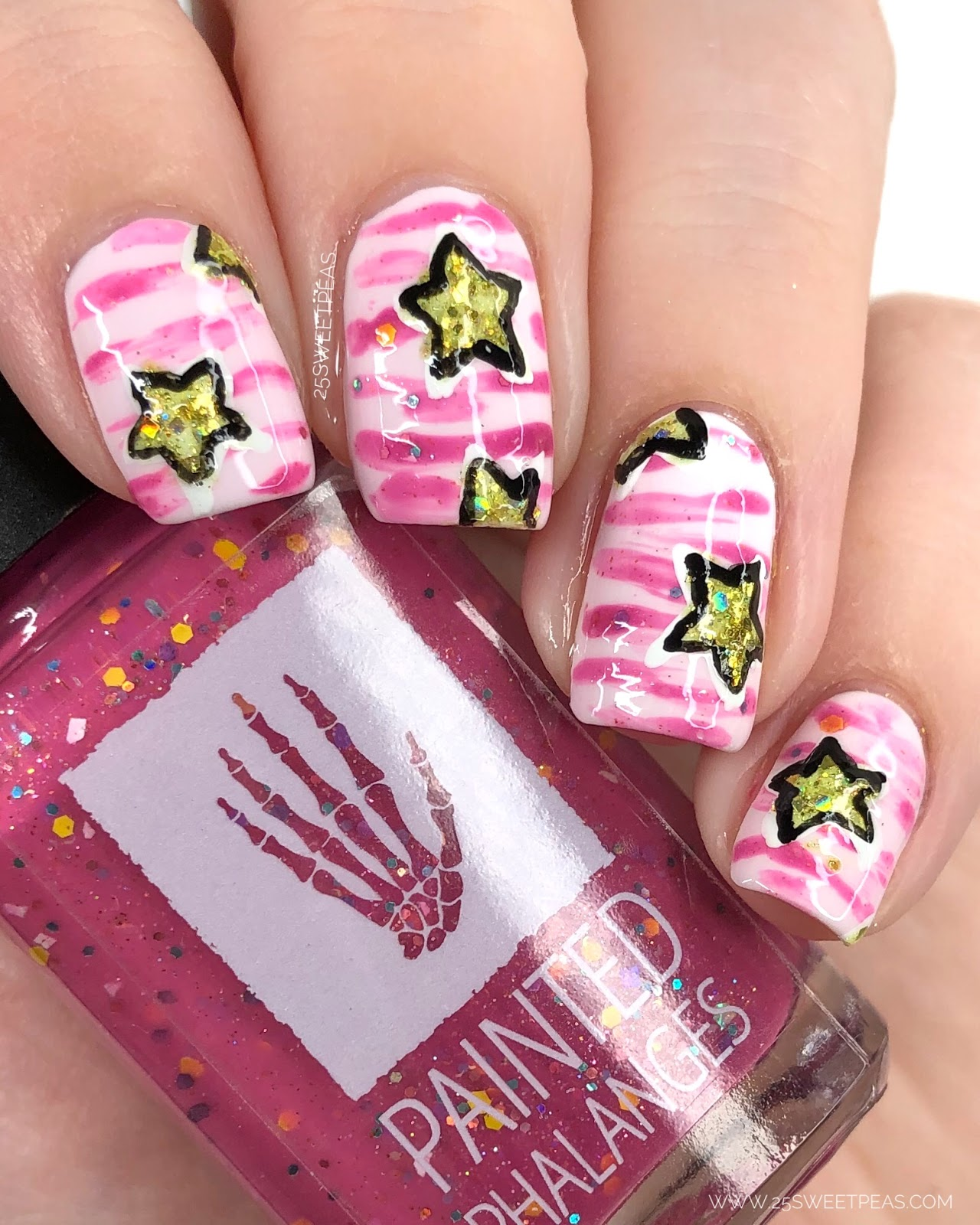 Sugar Spun Star Nail Art