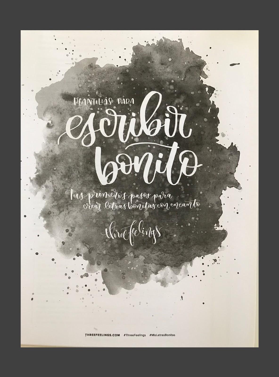 Madrid y libros: Lettering: Plantilla para escribir bonito de Three ...