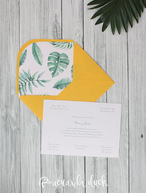 invitación boda veraniega