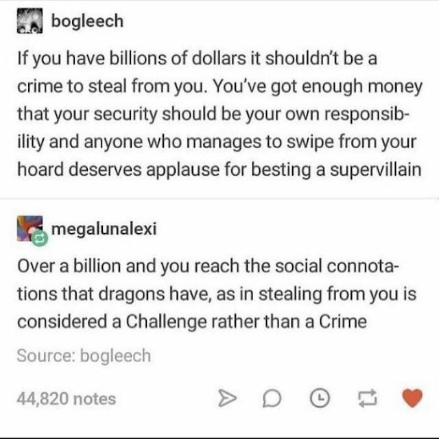 Rogues rationalizing theft (Meme)