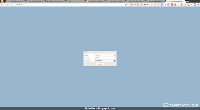 DriveMeca instalando el NAS OpenMediaVault paso a paso