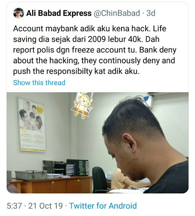 Duit simpanan RM40 ribu ringgit lesap, dan ini cara anda membuat laporan bank!