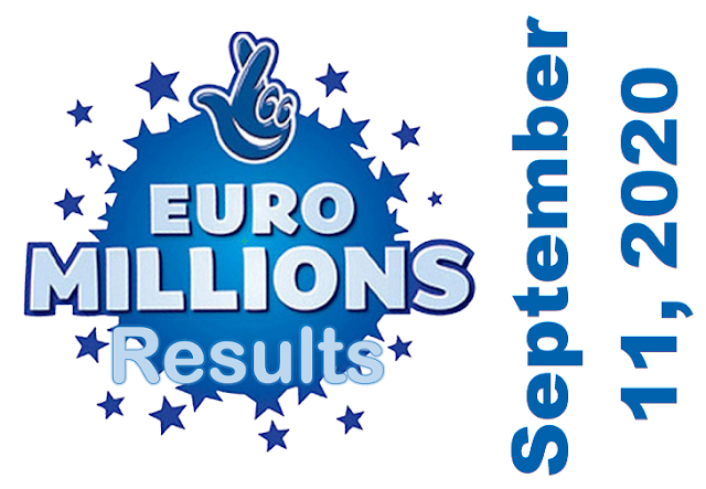 EuroMillions Results for Friday, September 11, 2020