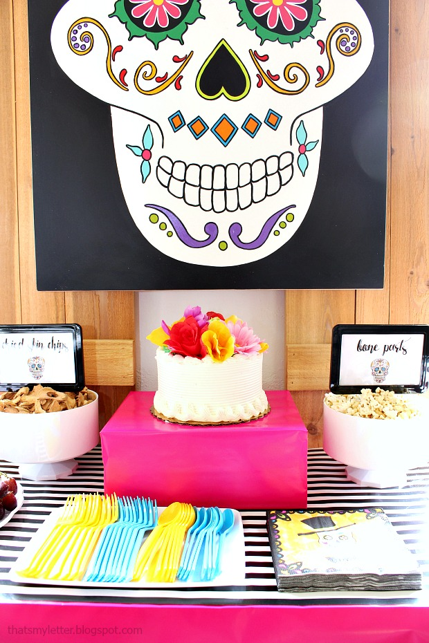 Sugar skull or Day of the Dead Halloween Party treat table