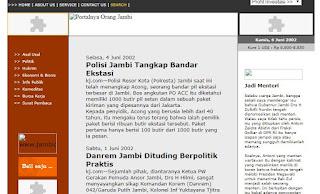 Capture koranjambi.com tahun 2002