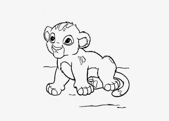 lion coloring pages realistic baby | Baby lion coloring page | Free Coloring Pages and Coloring ...