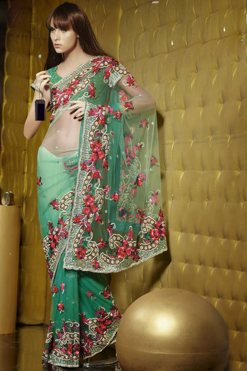 embroidery sarees online shopping  Stylish Indian Actress Saree
