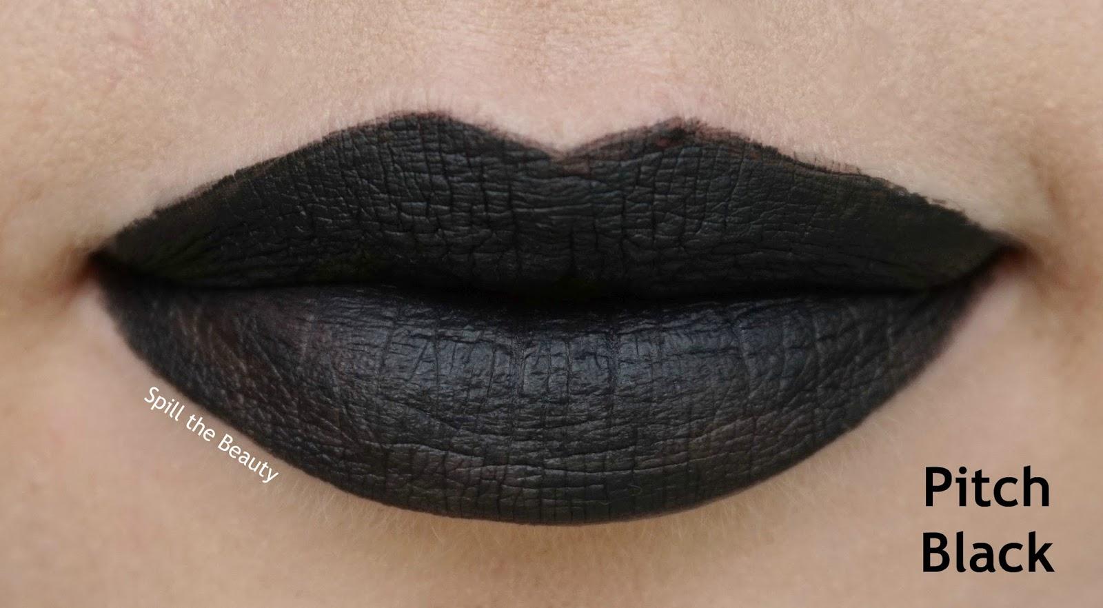rimmel london stay matte liquid lip color review swatches 840 pitch black