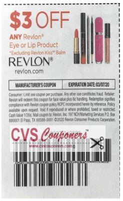 """$3.00/1 Revlon Eye or Lip product Coupon from ""SMARTSOURCE"" insert week of 2/9/20."