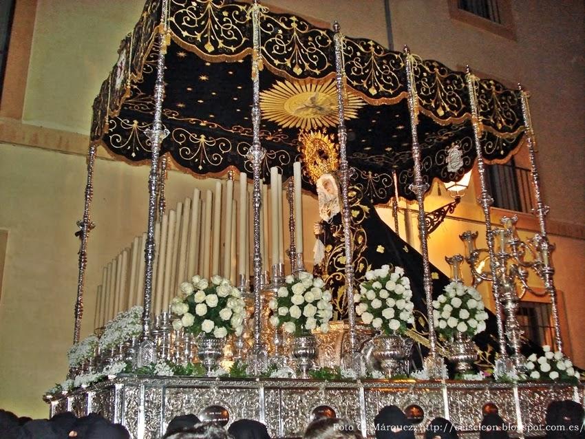 Nuestra Señora de la Soledad. Cofradía de Nuestra Señora de las Angustias y Soledad. León. Foto G. Márquez.