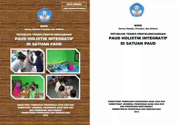 Juknis Penyelenggaraan Paud Holistik Integratif Di Satuan Paud Berkas Edukasi