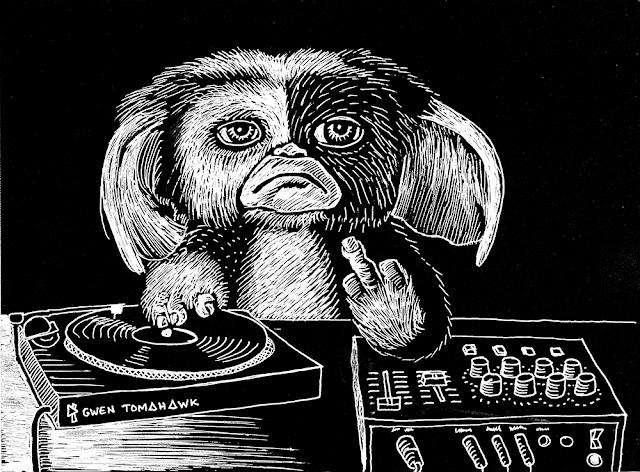 Gwen Tomahawk Gizmo Gremlins Joe Dante DJ Illustration Seine et Marne Fontainebleau