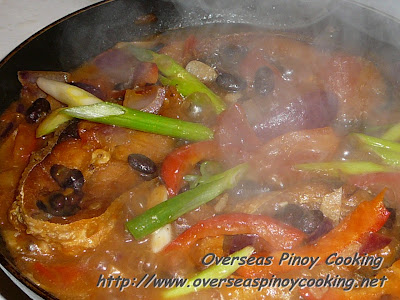 Bangus with Tausi - Cooking Procedure